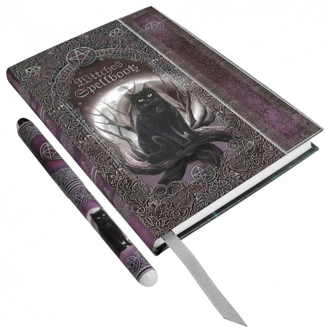 Nemesis Now-Witches Spell Book and Pen