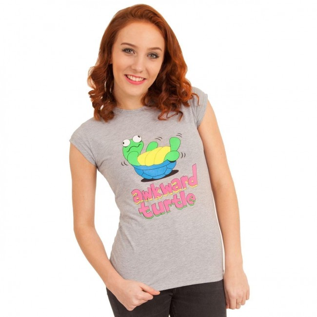 Flip Flop And Fangs-Awkward Turtle T-Shirt