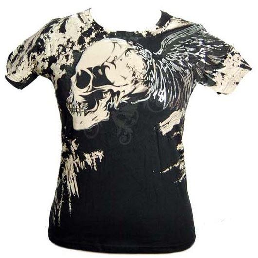 Cleo Gifts-Winged Skull T-shirt