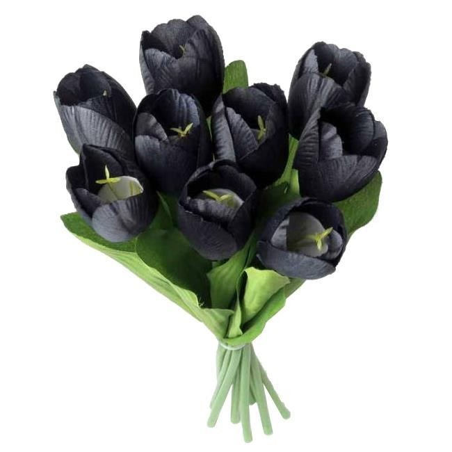 Alchemy Gothic-Black Tulips Bunch