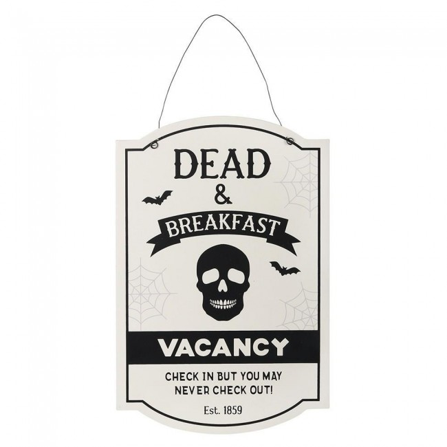Phoenixx Rising-Dead and Breakfast Hanging Sign