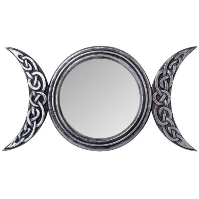 Alchemy Gothic-Triple Moon Mirror