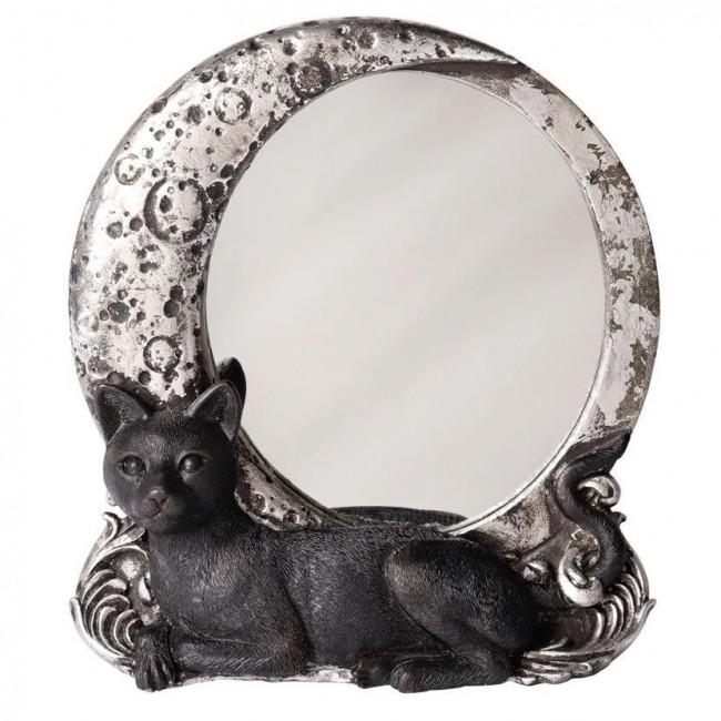 Alchemy Gothic-Night Cat Mirror