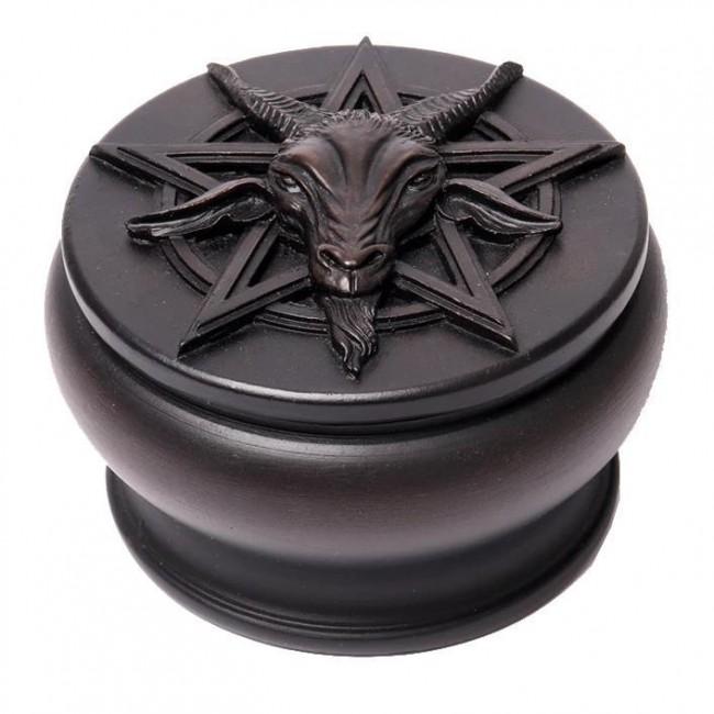 Alchemy Gothic-Black Baphomet Box