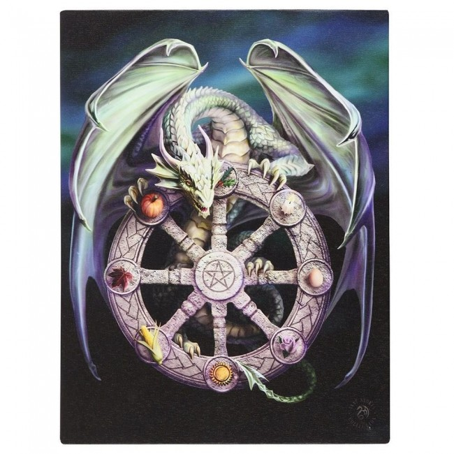 Anne Stokes-Wheel of the Year Canvas