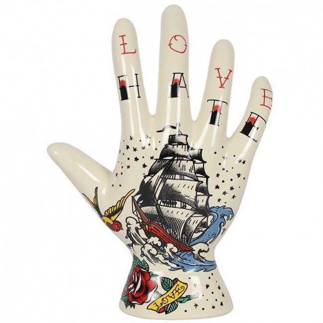 Something Different-Love Hate Palmistry Hand