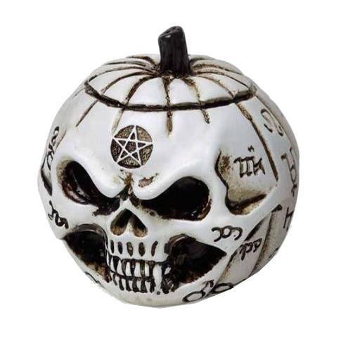 Alchemy Gothic-Pumpkin Skull Mini Ornament