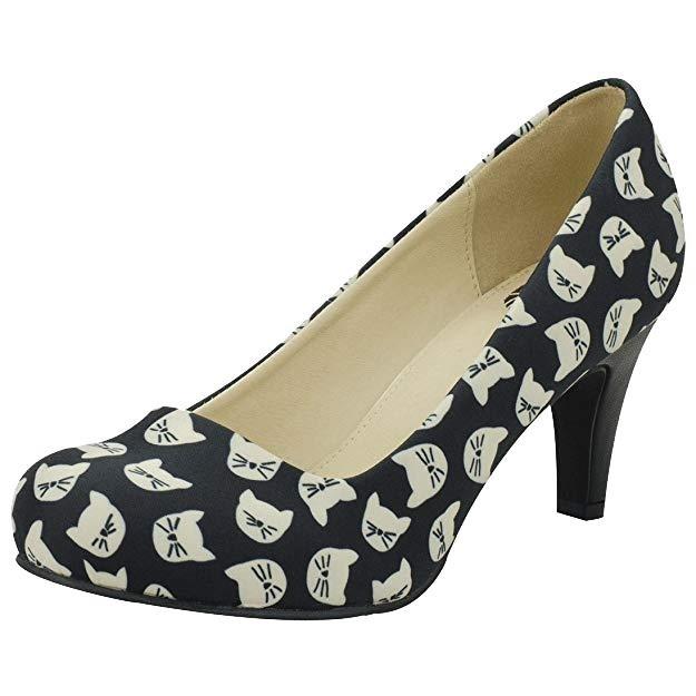 T.U.K. Footwear-Kitty Galore Heels
