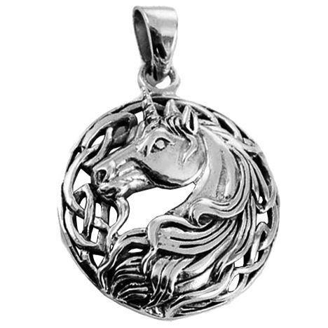 Lisa Parker-Silver Unicorn Pendant