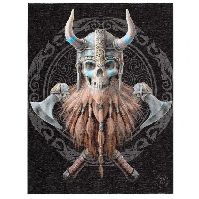 Anne Stokes-Viking Skull Canvas