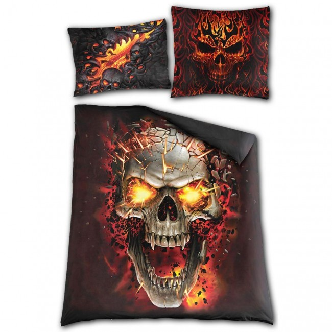 Spiral Direct-Skull Blast Double Bedding Set