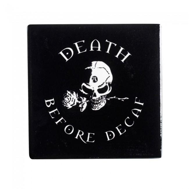 Alchemy Gothic-Death Before Decaf Coaster