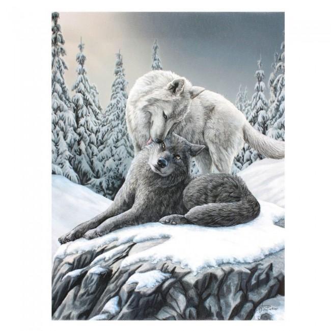 Lisa Parker-Snow Kisses Canvas