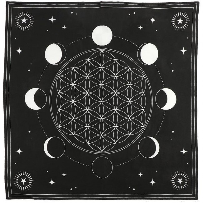 Something Different-Moon Crystal Grid Altar Cloth