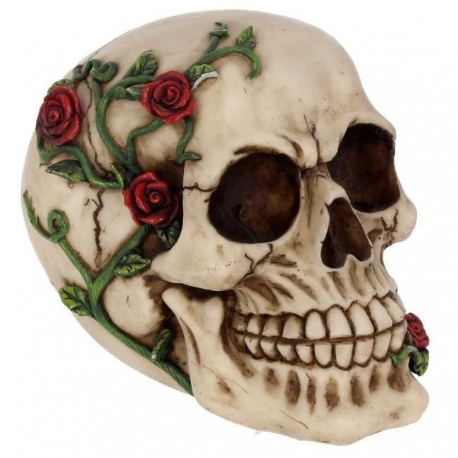 -Rose From Beyond Skull Ornament