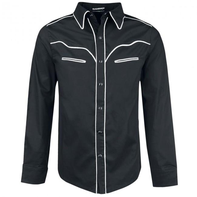 Banned Apparel-Western White Trim Shirt