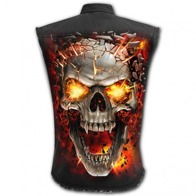 Spiral Direct-Skull Blast Workshirt