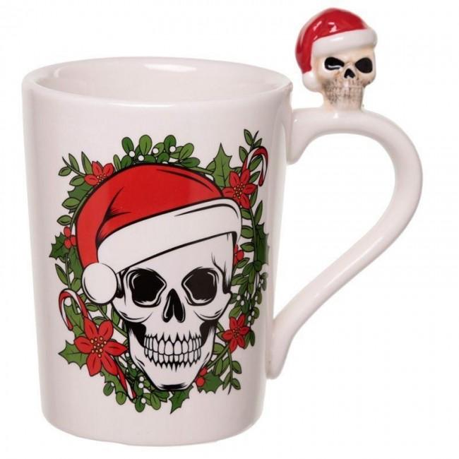 Phoenixx Rising-Christmas Skull Mug