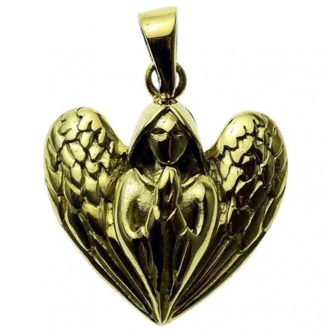 Lisa Parker-Praying Angel Bronze Pendant