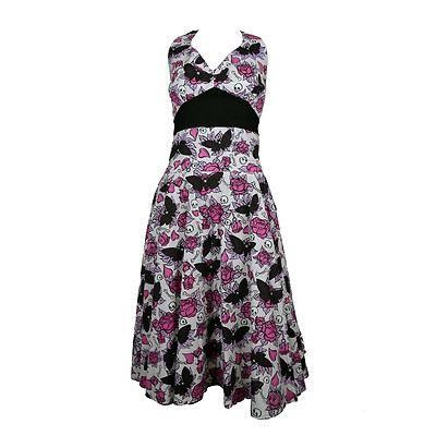 Phoenixx Rising-Mia Butterfly Skull Dress