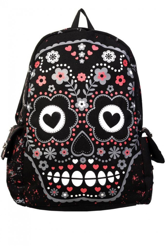 Banned Apparel-Sugar Skull Backpack