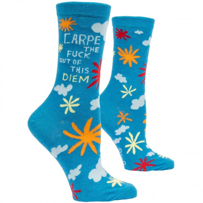 Blue Q-Carpe The Fuck Socks