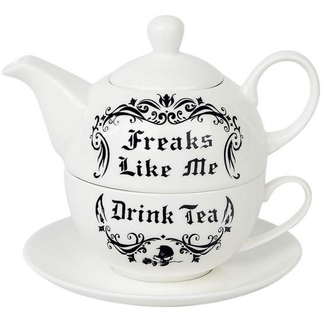 Alchemy Gothic-Freaks Like Me Tea Set