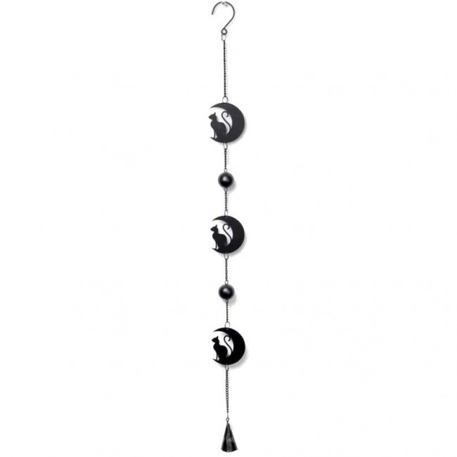 Alchemy Gothic-Black Cat Moon Hanging Decoration