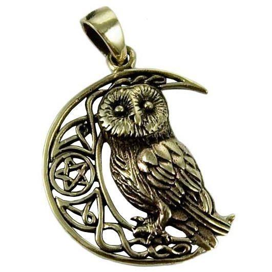 Lisa Parker-Owl Moon Bronze Pendant