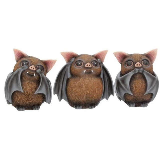 Nemesis Now-Three Wise Bats Ornament