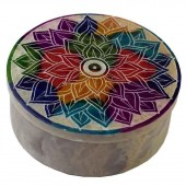 Mandala Soapstone Box