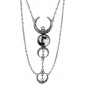 Crescent Moon Drop Necklace