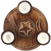 Triple Moon Tea Light Candle Holder