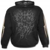 Unzipped Skeleton Hooded Top