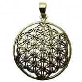 Flower Of Life Bronze Pendant