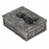 Gothic Black Cat Resin Storage Box