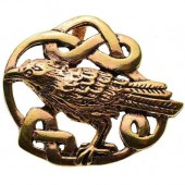 Celtic Raven Knot Work Pendant