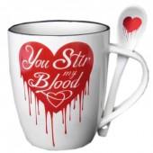 You Stir My Blood Mug Set