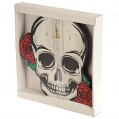Skull And Roses Clock