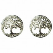Silver Celtic Tree Earrings