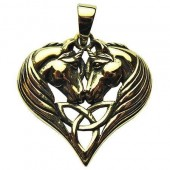 Unicorn Heart Bronze Pendant