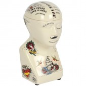 Phrenology Head Storage Jar