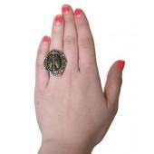 Skeleton Key Cameo Ring