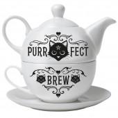 Purrfect Brew Hex Tea Set