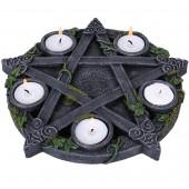 Pentagram Tea Light Candle Holder