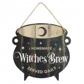 Witches Brew Cauldron Sign