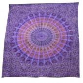 Purple Mandala Double Bedspread