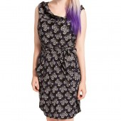 Boney Butterfly Drape Dress