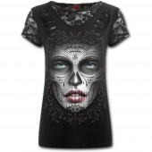 Death Mask Lace Top