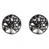 Silver Celtic Ear Studs